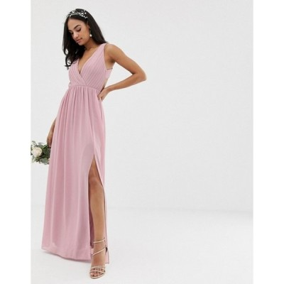 ティエフエヌシー レディース ワンピース トップス TFNC bridesmaid exclusive pleated maxi dress with back detail in pink