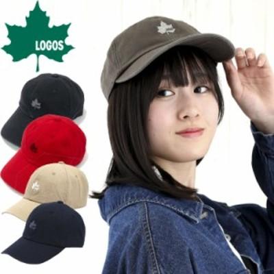 LOGOS ロゴス ベーシックキャップ 帽子 キャップ 定番 シンプル アウトドア スポーツ ゴルフ キャンプ メープルリーフ 手洗い可 メンズ