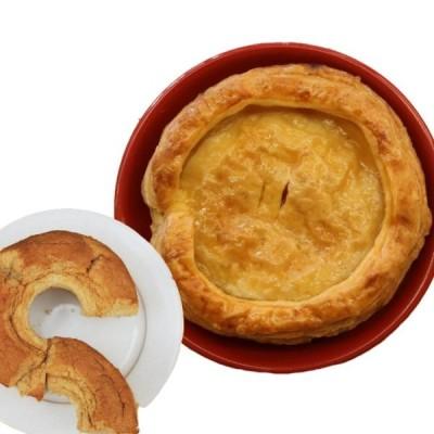大盛り アップルパイ 直径 15cm 5号 サイズ+紅茶シフォンケーキ