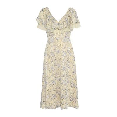 MIKAEL AGHAL 7分丈ワンピース・ドレス イエロー 8 ポリエステル 100% 7分丈ワンピース・ドレス