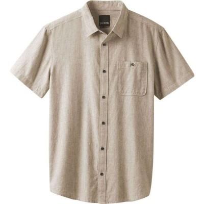 プラーナ PRANA メンズ 半袖シャツ トップス Jaffra Woven Short-Sleeve Shirt DK KHAKI