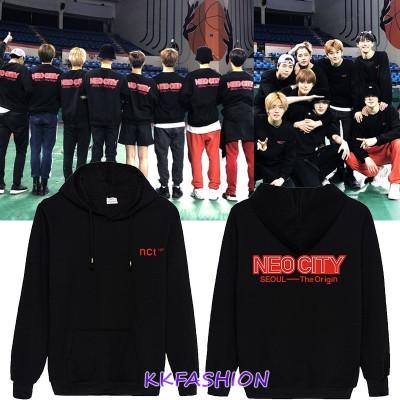 NCT 127  コンサート 同じデザイン 裏起毛 パーカー トレーナー 着用 フードスウェット 応援 グッズ  服 男女兼用 トップス
