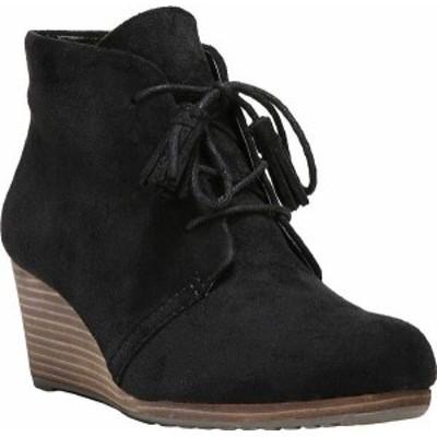 ドクター・ショール レディース ブーツ・レインブーツ シューズ Dakota Wedge Ankle Boot Black Microsuede