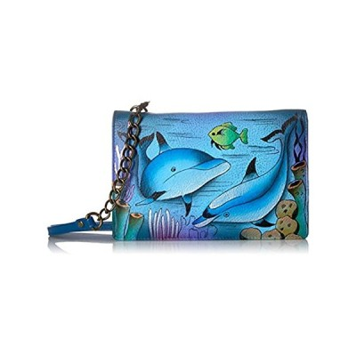 Anna by Anuschka Hand Painted Leather Two Fold Wallet On a String | Playful
