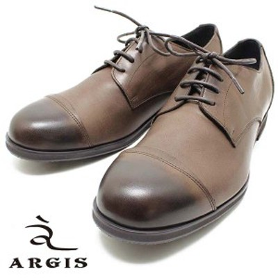 ARGIS/アルジス 81108 ソフトレザー4アイレット ギブソンシューズ ダークブラウン メンズ/レザー/ニッポンメイド/ストレートチップ/本革