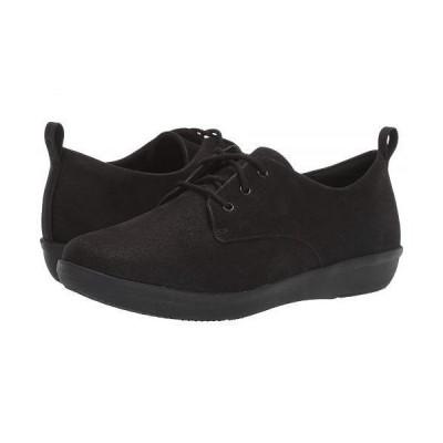 Clarks クラークス レディース 女性用 シューズ 靴 スニーカー 運動靴 Ayla Reece - Black Synthetic Nubuck