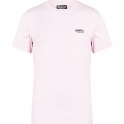 バブアー Barbour International メンズ Tシャツ ロゴTシャツ トップス Small Logo Tee Pink PI