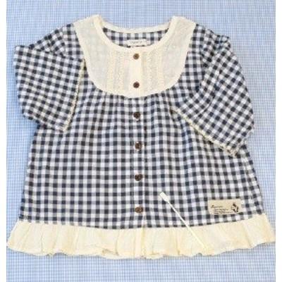 ビケット Biquette キムラタン ブラウス 長袖 110cm トップス 女の子 キッズ 子供服 中古