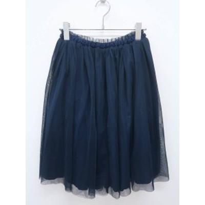 Ungrid(アングリッド)ボリュームチュールスカート 紺 レディース Aランク F