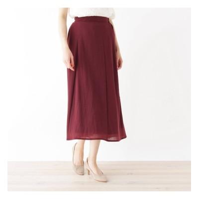 【ピンクアドベ/pink adobe】 タックギャザーハイウエストロングスカート