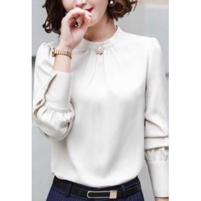 長袖  ワイシャツ シャツ ブラウス ビジネス レディース シャツ 制服 フォーマル オフィス ワイシャツ トップス スーツ リクルート