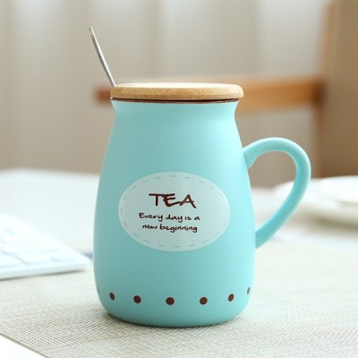 耐熱カップ くすみカラー セラミック 陶器 マグ コップ ティーカップ スプーン付