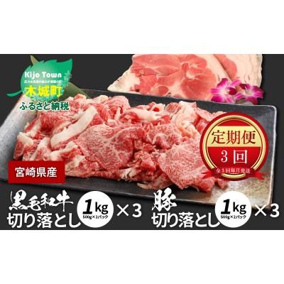 K16_T004 牛肉&豚肉切り落としセット【3か月定期便】