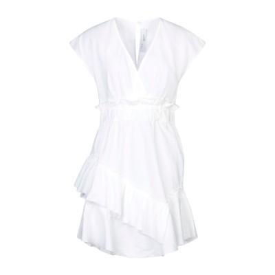 イロ IRO ミニワンピース&ドレス ホワイト 34 リネン 55% / コットン 45% ミニワンピース&ドレス