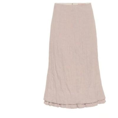 ブロック コレクション Brock Collection レディース ひざ丈スカート スカート Quarzo linen-blend midi skirt Light/Pastel Pink