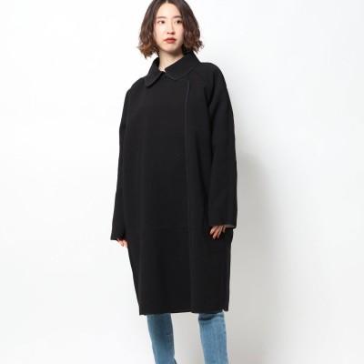 ゲス GUESS DAPHNE REVERSIBLE COAT (BLACK WHITE COMBO)