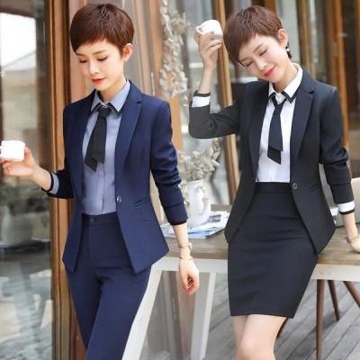 プロのスーツの女性の春と秋の新しいファッション気質スーツインタビュードレス