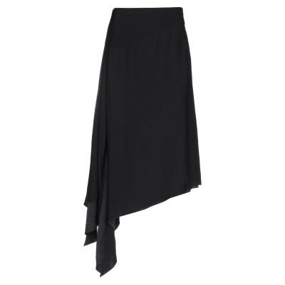 ジバンシィ GIVENCHY ひざ丈スカート ブラック 36 レーヨン 100% / アセテート / シルク ひざ丈スカート