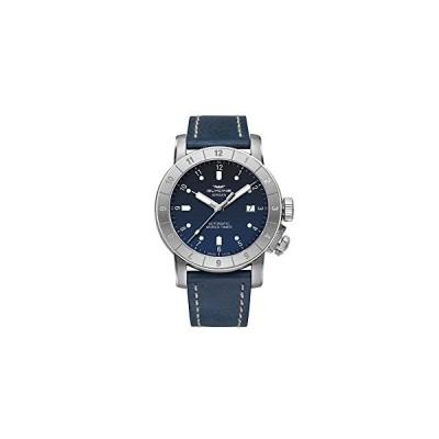 Glycine Airman 42 Double Twelve Mens Analog Swiss Automatic Watch with Leather Bracelet GL0062 並行輸入品