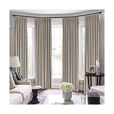 TWOPAGES Extra Long Curtains, 96 Inch Long Velvet Thermal Insulated Curtains for Living Room/Bedroom Room Darkening Window Curtain (MJ11-8 G