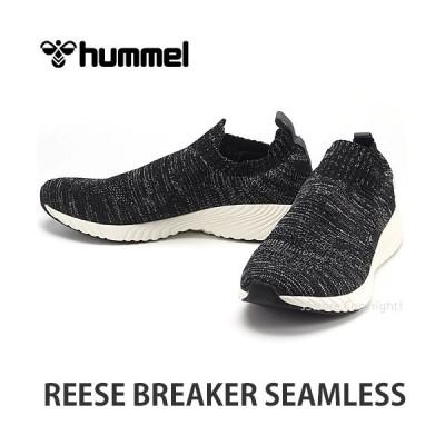 ヒュンメル リース ブレーカー シームレス HUMMEL REESE BREAKER SEAMLESS スニーカー シューズ 靴 スリッポン UNISEX カラー:BLK/WHT