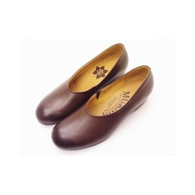 MUKAVA ムカヴァ レディース パンプス MU-984 ダークブラウン Ladies' ウエッジヒール 靴