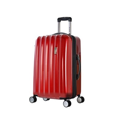 Olympia Titan 25 Inch Expandable Hardside Spinner, Red, One Size【並行輸入品】