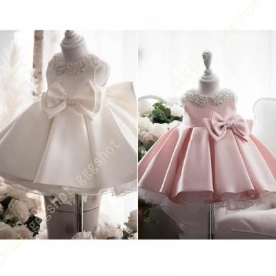 子供ドレス 女の子ドレス フォーマルドレス ワンピース リボン付きシフォン ゆったり Aライン 花柄 ノースリーブ ピアノ 発表会 演奏会 フォーマル 入園式