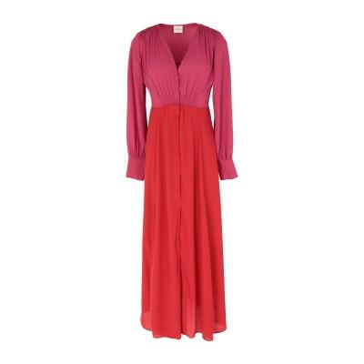 メルシー ..,MERCI ロングワンピース&ドレス レッド 40 ポリエステル 97% / ポリウレタン 3% ロングワンピース&ドレス