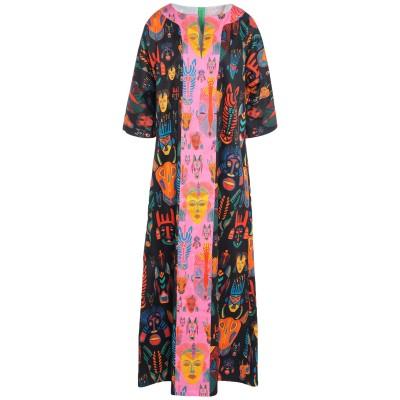 RIANNA + NINA ロングワンピース&ドレス ブラック S/M コットン 100% ロングワンピース&ドレス