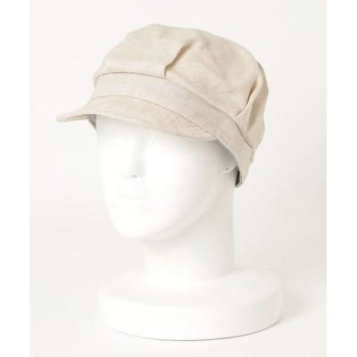 salle de bal / ▽ ST: フレンチリネン ワークキャップ French Linen WORK WOMEN 帽子 > キャップ