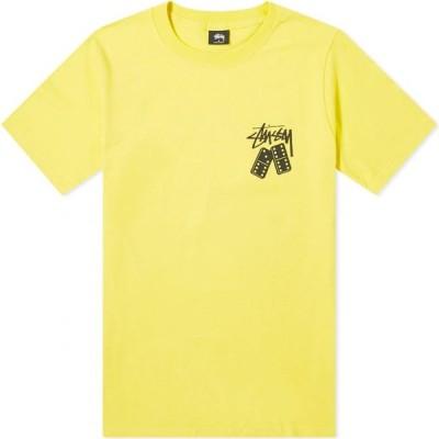 ステューシー Stussy メンズ Tシャツ トップス dominoes tee Lemon
