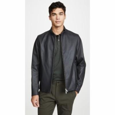 セオリー Theory メンズ レザージャケット アウター Morvek Leather Jacket Pewter