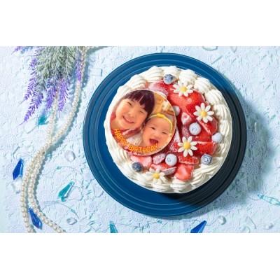 写真ケーキ イチゴをたっぷり使用したイチゴいっぱいショート 4号 12cm