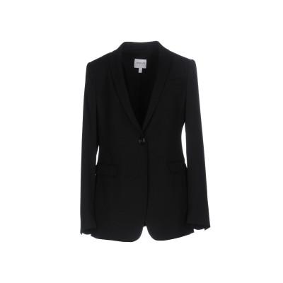 アルマーニ コレッツィオーニ ARMANI COLLEZIONI テーラードジャケット ブラック 42 バージンウール 99% / ポリウレタン 1