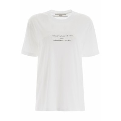 STELLA MCCARTNEY/ステラ マッカートニー Tシャツ PURE WHITE Stella mccartney lucky numbers t-shirt レディース 秋冬2019 381701 SMW8
