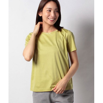 <Leilian(Women)/レリアン> ビジューネックTシャツ キイロ【三越伊勢丹/公式】