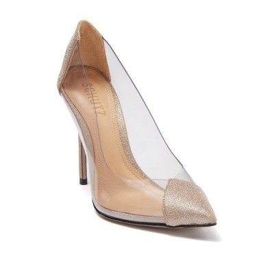 シュッツ レディース パンプス シューズ Cendi Transparent Pointed Toe Pump PLATINA TRANSPARENTE