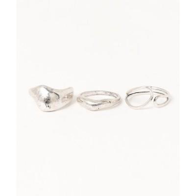 指輪 メタルセットリング