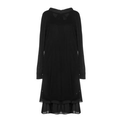 SCEE by TWINSET ミニワンピース&ドレス ブラック XS 100% ポリエステル ミニワンピース&ドレス