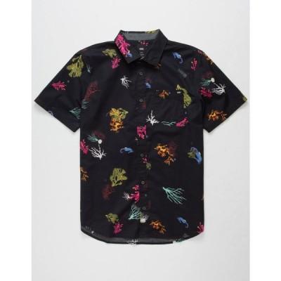 ヴァンズ VANS メンズ 半袖シャツ トップス Reality Coral Shirt BLACK