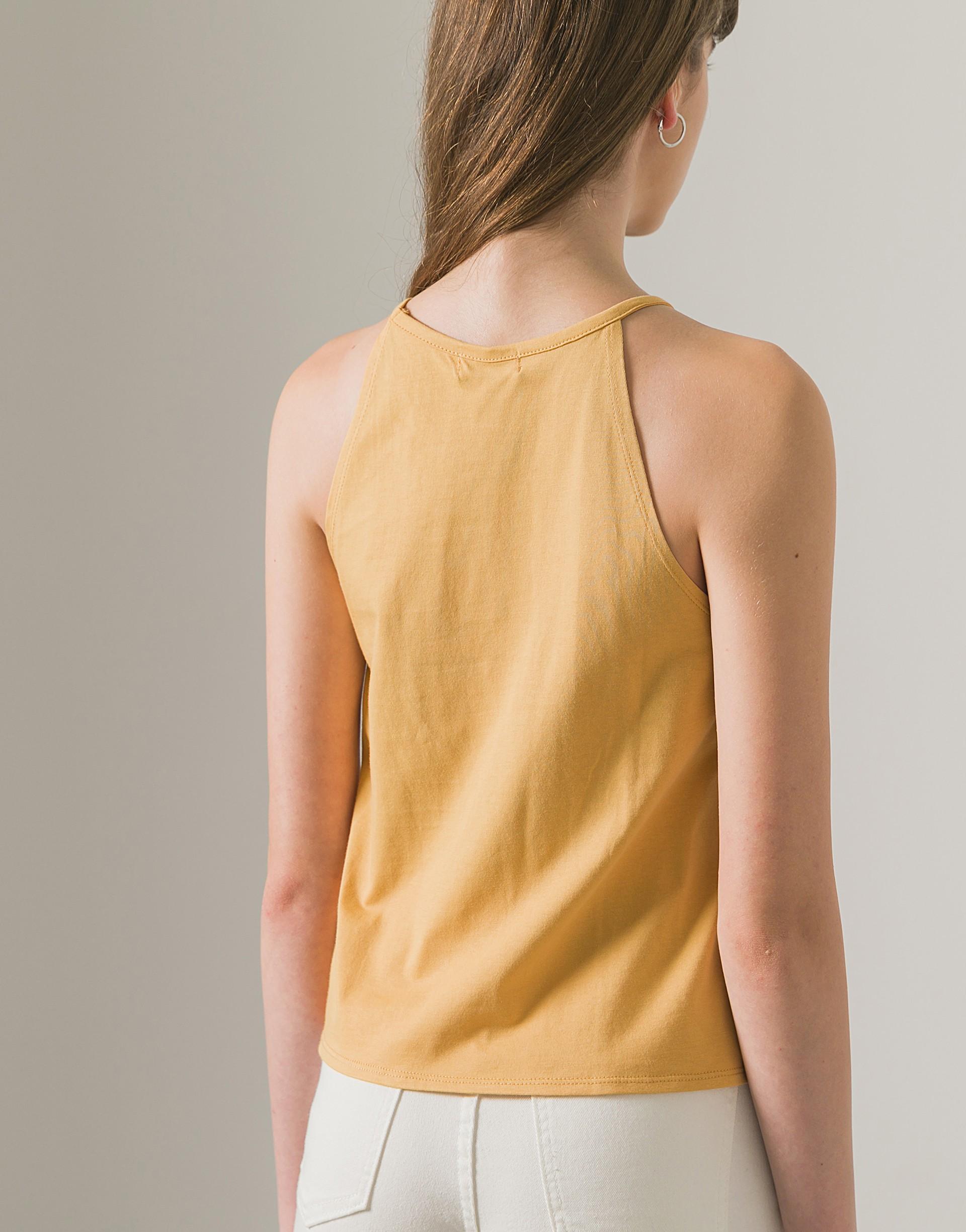 MIT美國棉簡約削肩短版背心-女-Genquo