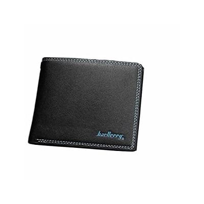 Man Wallet Small Leather Wallets Fashion Purse Black for Gentlemen by TOPUN