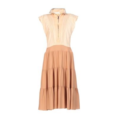 クロエ CHLOÉ 7分丈ワンピース・ドレス サンド 36 レーヨン 61% / シルク 39% / 麻 7分丈ワンピース・ドレス