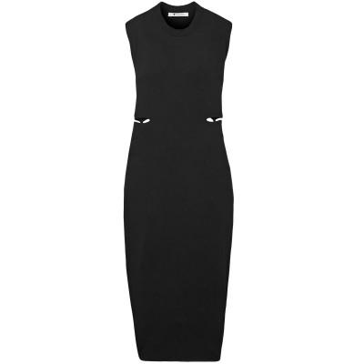 ALEXANDERWANG.T 7分丈ワンピース・ドレス ブラック M レーヨン 95% / ポリウレタン 5% / シルク 7分丈ワンピース・ドレス