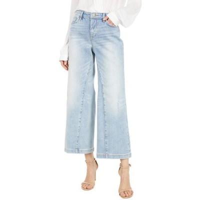 ユニセックス パンツ Teresa Wide Leg Ankle Jeans in Radiance