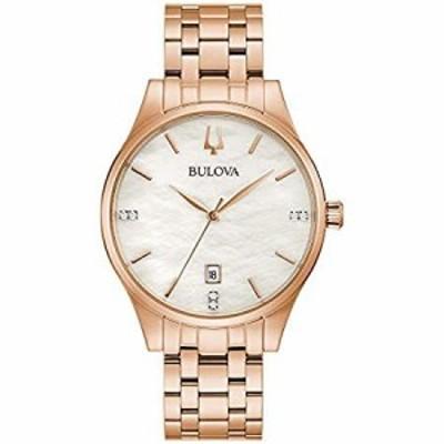 Bulova Classic Quartz Ladies Watch, Stainless Steel Diamond , Rose Gold-Ton