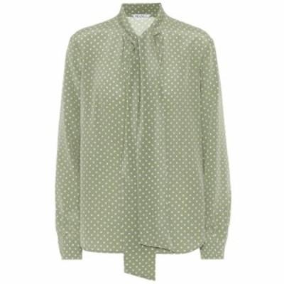 マックスマーラ Max Mara レディース ブラウス・シャツ トップス Bali polka-dot silk shirt