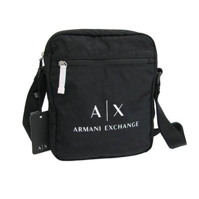 A|X ARMANI EXCHANGE アルマーニエクスチェンジ 952102 CC511 00020/ブラック クロスボディ メッセンジャーバッグ