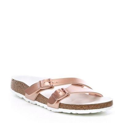ビルケンシュトック レディース サンダル シューズ Women's Yao Hex Metallic Slide Sandals Gold